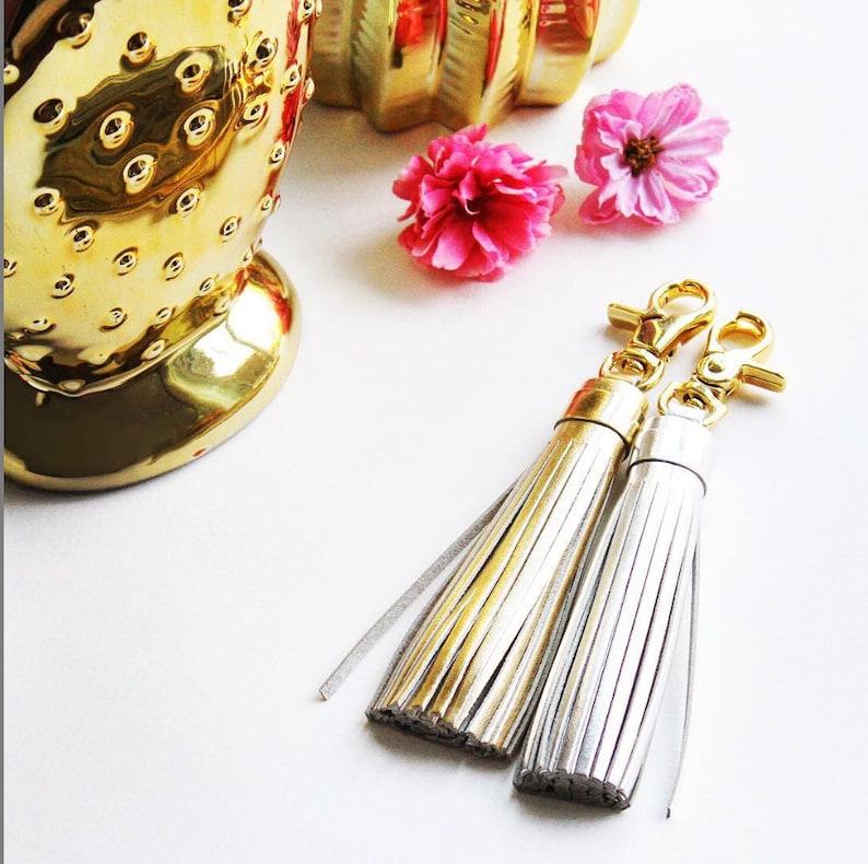 Leather Tassel Keychain Tassel Keyring Yellow Tassel Keychain Handmade Genuine Leather Brass Tassel Keychain Purse Ring Bag Charm