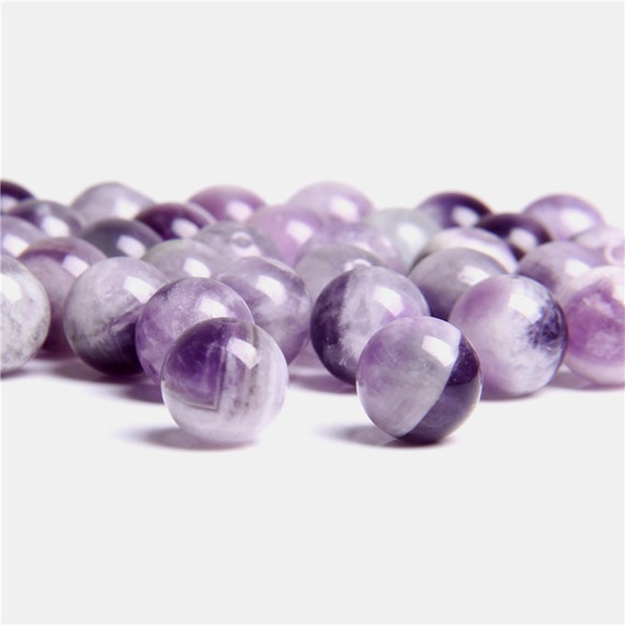 Beautiful Lavender Amethyst Natural Gemstone Smooth Round Beads 6mm 8mm 10mm