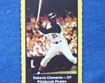 1969 Nabisco Team Flakes #5 Roberto Clemente (Pittsburgh Pirates) RP