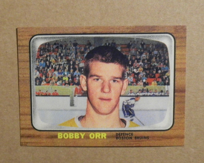 official photos 4c331 aa960 1966/67 Topps Hockey #35 Bobby Orr [] Boston Bruins (RC) RP