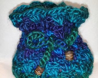 Crochet Drawstring Pouch #1