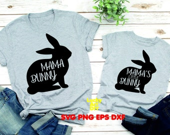 22bb832855 Mommy and Me SVG, Mama Bunny SVG Family shirt Mama's Little Bunny Design,  Toddler svg, baby easter clip art tshirt SVG cricut silhouette