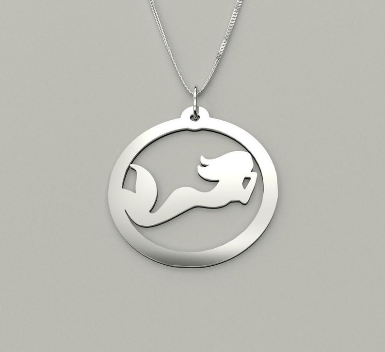 Mermaid available in 925 Sterling Silver 18 Karat  Gold Plated or Silver Plated Necklace by JoyfulSilver