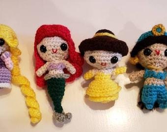 Handmade Disney Princess Amigurumi Dolls