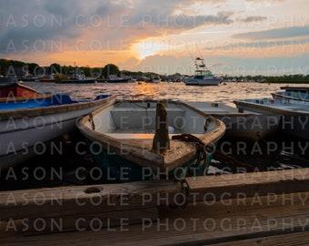 Green Harbor Row Boats, Marshfield, MA Photograph
