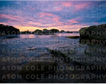 Ocean Bluff Sunset, Marshfield, MA Photograph