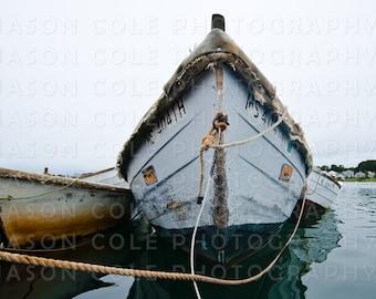 Green Harbor Row Boats Close-Up, Marshfield, MA Photograph