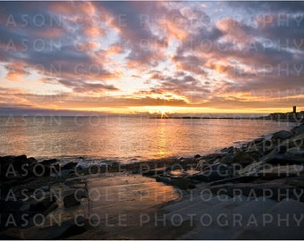 Brant Rock Stairs Sunrise, Marshfield, MA Photograph