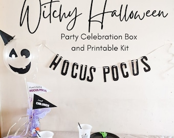Witchy Halloween Party in a Box + Printable Kit, Witch Party, Hocus Pocus Party