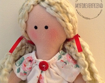 Rag doll, Handmade doll, Tilda doll, Handmade Rag Doll, Cloth doll, Textile doll, Collectible doll, Soft bodied doll, Bespoke doll,