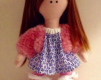 Tilda doll, Handmade Rag Doll, Handmade doll, Cloth doll, Textile doll, Collectible doll, Soft bodied doll, Rag doll. Art doll, Bespoke doll