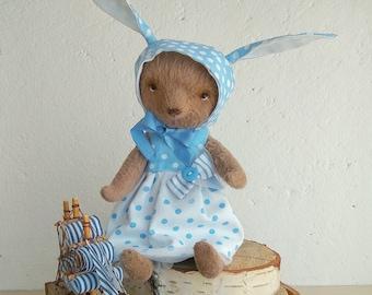 Teddy Bear Girl, Handmade Toy, Gift, Interior Toy