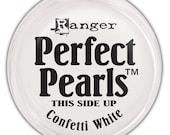 Ranger, Perfect Pearls Pigment Powder, Confetti White, Embellishments, Craft Supplies, Scrapbooking