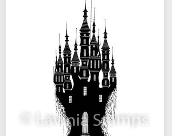 Echo Park Embossing Folder ~ MAGIC AND WONDER ~ Magical Castles ~ 5x6 Folder