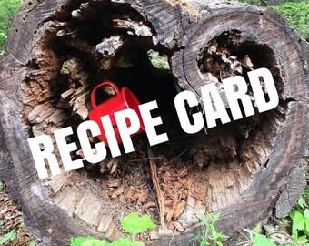 soul wild recipe - fresh and mild salsa recipe - original recipe - salsa recipe - summer recipe - recipe card - pnw