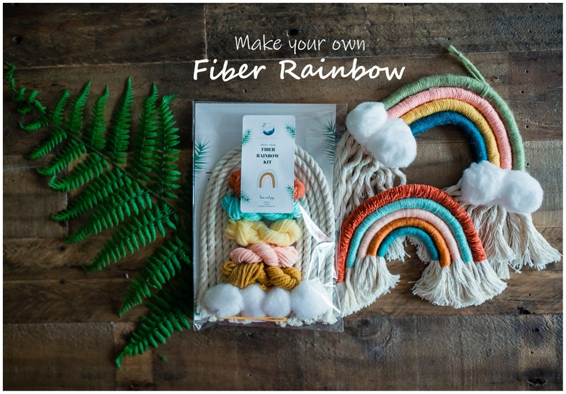 DIY Macrame Rainbow Kit Make your own Fiber Rainbow Yarn image 0