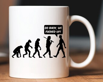 Trump Mug Go Back We Screwed Up! Funny Witty America Politic Politicia Tea Cup