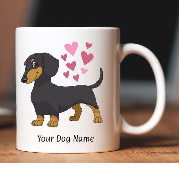 Dashund Sausage Dog Mug Mom Dash Hound or Dashound Dog Coffee Mug and Gifts