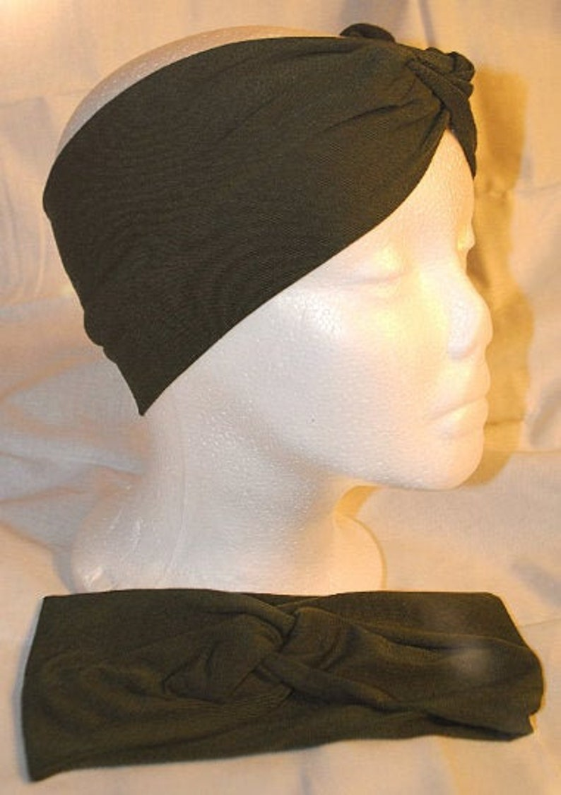 Green Adult Turban Headband