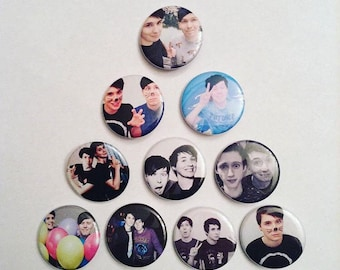 241edb8757c Dan and Phil Pinback Buttons