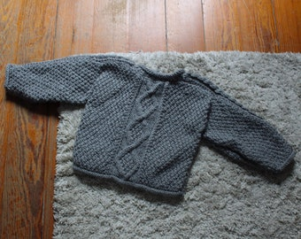 Irish wool baby sweater