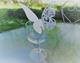 Set of 10 name butterfly for glass