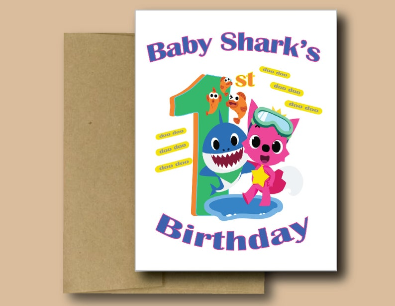 Baby Boys Girls Assorted 1st Birthday Cards Assorted Pack Size Envelopes Blank Inside Baby Shark Mickey Minnie Mouse Peppa Pig Handmade