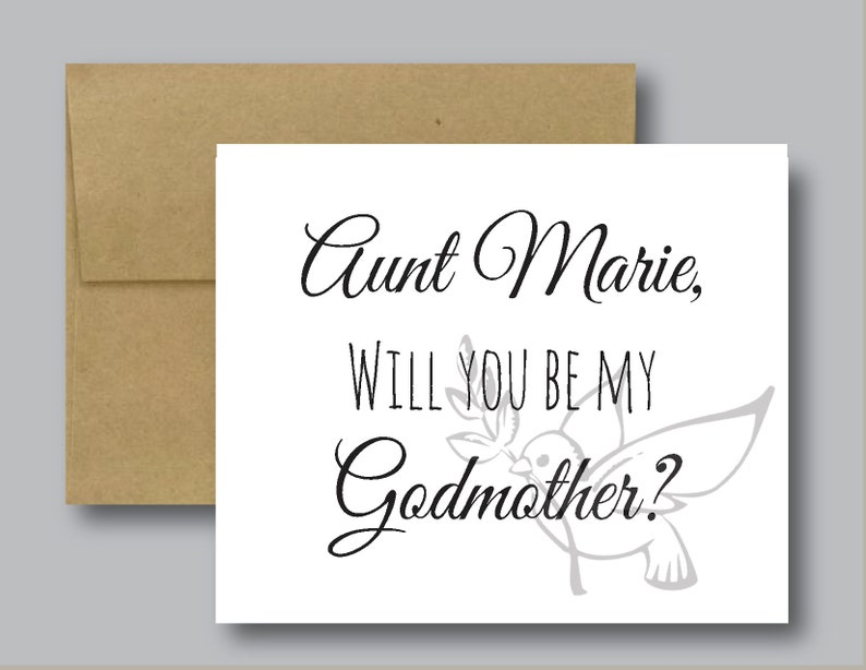 Baptism Baby Blank Folded Cute Gifts Will You Be My Godfather? Personalized Handmade Religious Card Greeting Cards Church Baptismal