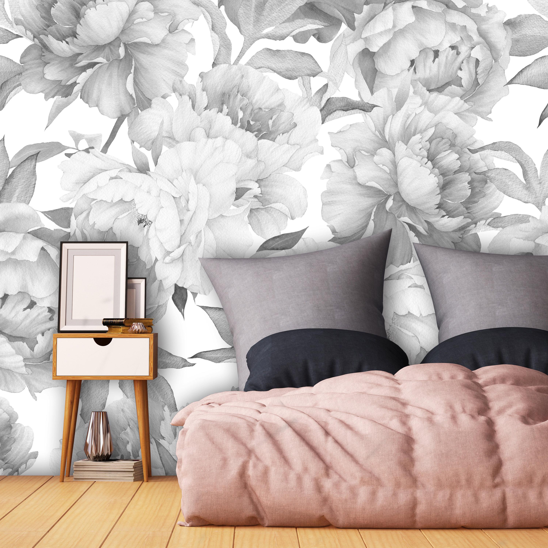 Girl Room Wallpaper Nursery Wallpaper Peony Wallpaper Etsy