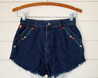 Floral embroidered Rockies shorts