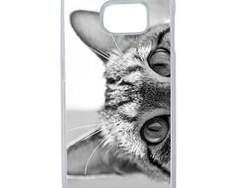 Hard Case Design Grey Cat Eyes For Samsung Galaxy S6 Edge