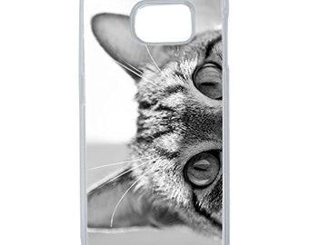 Hard Case Design Grey Cat Eyes For Samsung Galaxy S6 Edge Plus