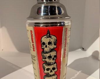 """Headhunter Skulls tiki cocktail shaker - """"Shaking Things Up!"""""""