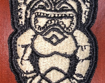 "Kū the Hawaiian god of war morale patch 3""H x 1.5""W"