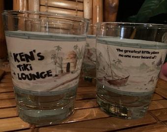 Quantity 2 of Ken's Tiki Lounge classic Mai Tai glasses