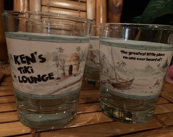 Featured listing image: Quantity 2 of Ken's Tiki Lounge classic Mai Tai glasses