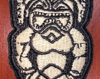 """Kū the Hawaiian god of war morale patch 3""""H x 1.5""""W"""
