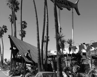 Reach for the Sky - Bordered print of Don the Beachcomber, destination for lovers of tiki culture