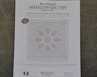 Feathered Pineapple Wallhanging Wholecloth Quilt Top Kit