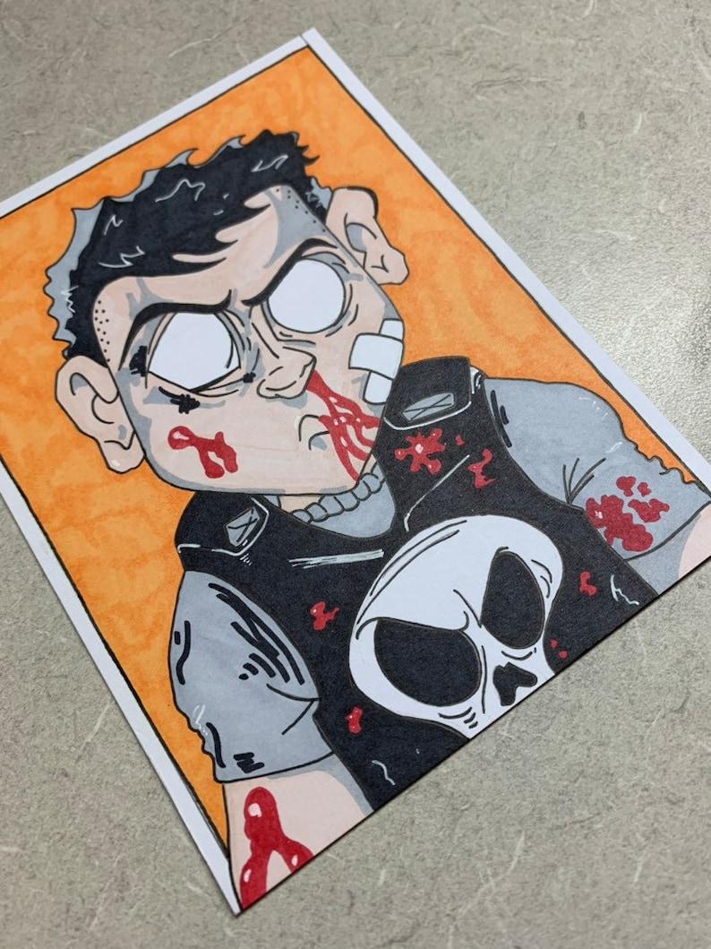 Punisher Marvel Sketch Card