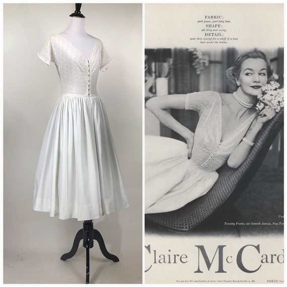 Rare! vintage 1950s  Claire McCardell 1952 Sheer L