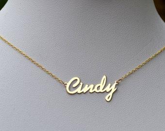 d6d38e455980a Gold name necklace   Etsy