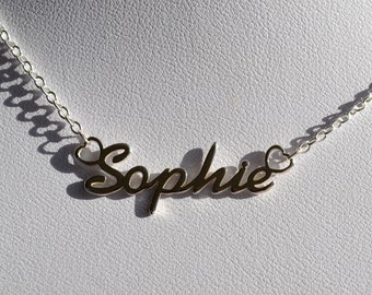 0444a881237dd Silver name necklace | Etsy