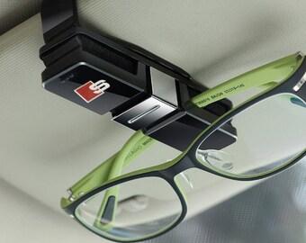 878fed71ac Audi Sline Car Sunglasses Glasses Holder Car Interior Accessory Visor Case  BLACK A1 A2 A3 A4 A5 A6 A7 S3 S4 S5 S6 S2 Q3 Q5 Q7 TT rs Quattro