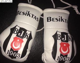 Besiktas Car Mini Boxing Gloves Gift Present Accessory Turkish Football Superlig