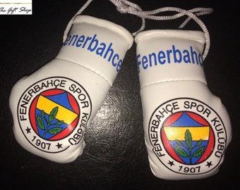 Fenerbahce Car Mini Boxing Gloves Gift Present Accessory Fener Turkish Football