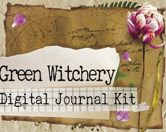 Green Witchery 1 - Printable Journal Kit - Instant Download - Journal Pages - Digital Download - Book of Shadows - Grimoire - Witchcraft