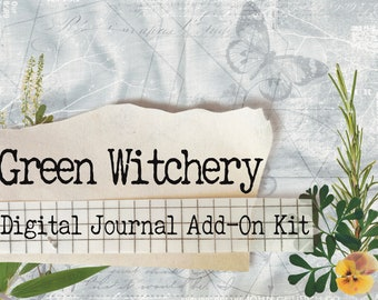 Green Witchery 2 - Printable Journal Kit - Instant Download - Journal Pages - Digital Download - Book of Shadows - Grimoire - Witchcraft