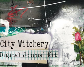 City Witchery- Printable Journal Kit - Witch Journal - Instant Download - Digital Download - Book of Shadows - Grimoire - Journal - Wiccan