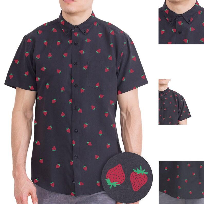 000223d12f0 Visive Original Printed Short Sleeve Button Down Shirt Size